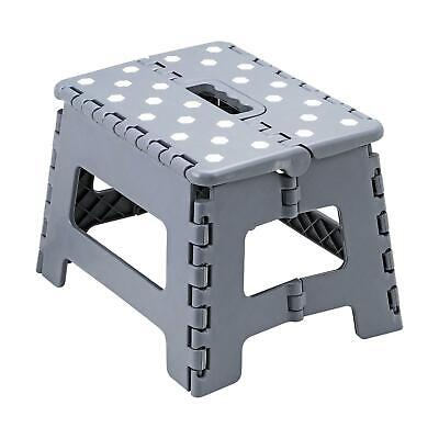 Heavy Duty Plastic Step Stool Foldable Multi Purpose Home Kitchen Use Grey