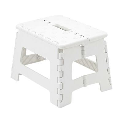 Heavy Duty Plastic Step Stool Foldable Multi Purpose Home Kitchen Use White