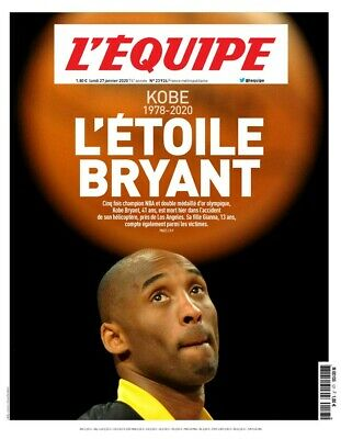 L'Equipe - L'ETOILE BRYANT (27/01/2020)- HOMMAGE TRIBUTE KOBE BRYANT (8 PAGES)