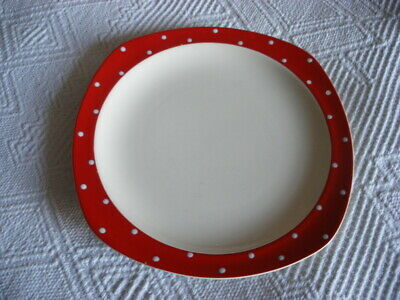 "A  Midwinter Stylecraft Red Domino 10"" Dinner Plate  390L"