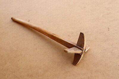 Old Antique Primitive Wooden Wood Kitchen Tool Hand Mixer Utensil Early 20th