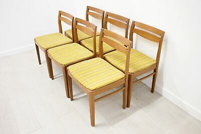 DELIVERY £60 Mid Century Retro Set of 6 Teak Dining Chairs by Nathan