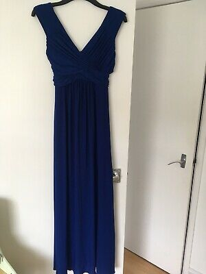 Sophie Ruched Cobalt Blue Maxi Dress Phase Eight Size 10 Wedding, Ball, Cruise