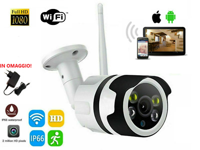 Telecamera Ip Cam Wifi Esterna Full Hd 1080P Wireless Slot Sd Card Ip66