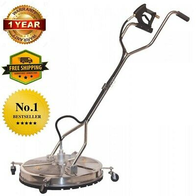 """24"""" in Concrete Stainless Steel Pressure Washer Surface Cleaner Whirl-a-Way"""