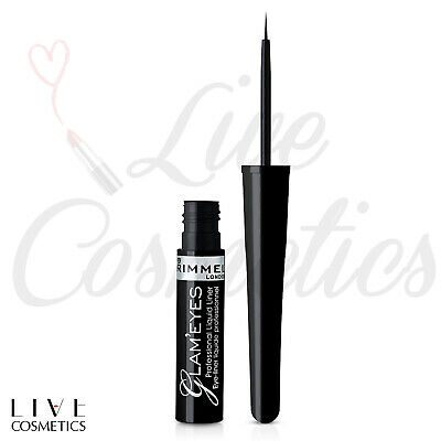 Rimmel Glam'eyes Professional Liquid Eyeliner, Black Glamour 3.5 ml