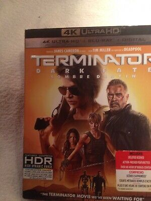 Terminator Dark Fate 4K Ultra HD & Blu Ray & Digital W/ Slipcover New Sealed