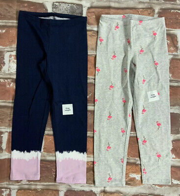 NWT LOT OF 2 Old navy GIRLS Cropped Jersey Leggings Soft lightweight MULTICOLOR
