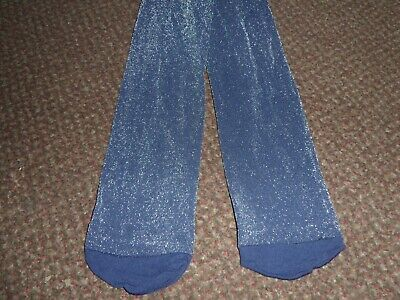 BNWOT Girls navy blue sparkly / glittery f+f party Tights 11 - 12 YEARS