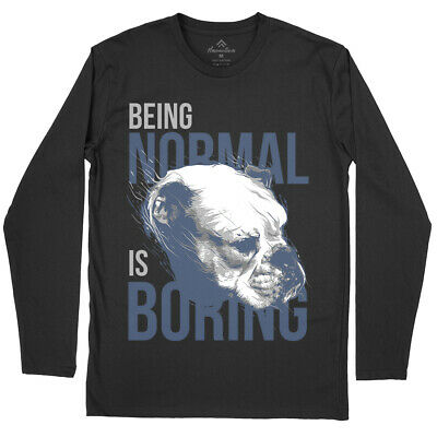 Velocitee Mens T-Shirt Being Normal Is Boring Slogan French Bulldog A21612