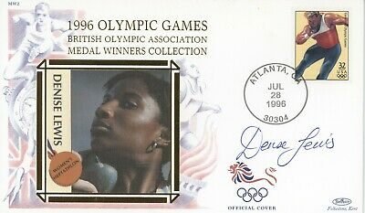 1996 Olympic Games Medal Winner Collection cover SIGNED Denise Lewis, Heptathlon