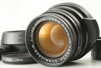 Leica Leitz Canada Summicron-M 50Mm F/2 Black 3Rd For Leica M Mount E39 F/S Jp