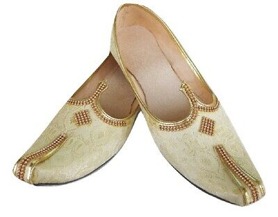 MENS ETHNIC INDIAN Jutti Mojari Khussa wedding Flat Shoes US