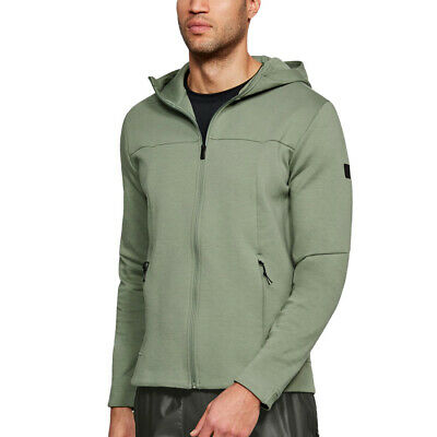 Under Armour Coldgear Sport Style Full Zip Triblend Hoodie Giacca 1290255-001 HG