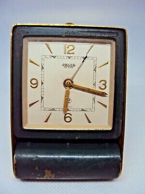Vintage 2 Day Travel Alarm Clock Jaeger Le Coultre Swiss 1930 s. * SERVICED *