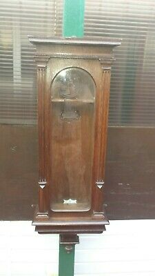 Antique Oak Lenzkirch Vienna Wall Clock Case Spares or Repairs
