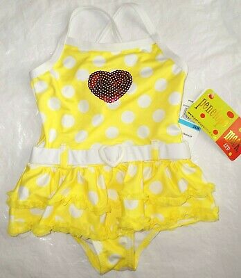 Kate Mack Bow Peep 2PC Baby Swimsuit NWT 3 months 24 months