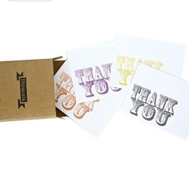 Lot X 40 Handmade Assorted Postcard Style Thank You Card Blank Premium Phranzia