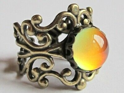 Princess of Wishes - Mood Ring - Adjustable - 10 mm - Brass