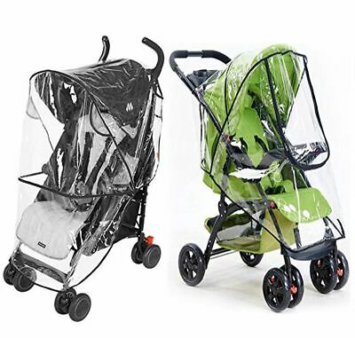 Rain Wind Cover Weather Shield Protector Zipper Clear for GB Baby Child Stroller