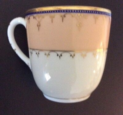 Antique Abram French & Co Demitasse Cup Thin Porcelain Gold Gilted