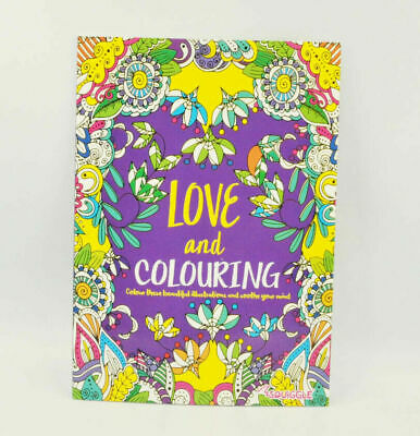 A4 Adult Anti-Stress Colouring Book Therapeutic Stress Relief Activity Books