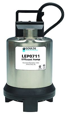 Goulds LEP0712ATF Submersible Sump Pump, 3/4 HP, 230V