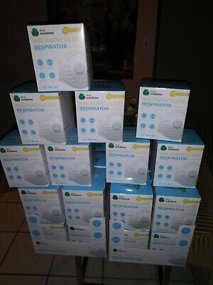 ECO Solutions  n95口罩 Particulate Face Mask Respirator With Valve, 10 per Box