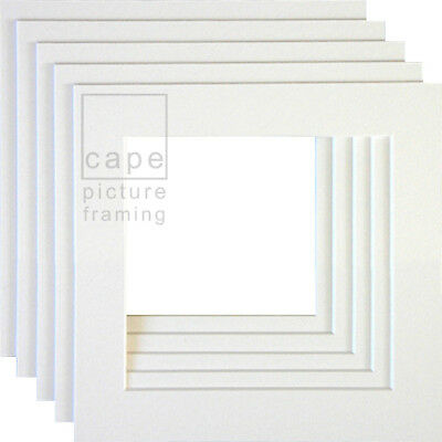 Square Picture Photo Mounts, Pack of 5,Conservation White Core, Instagram