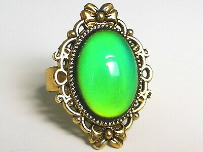 Crown Princess to the Throne - Mood Ring - Adjustable - Gold Plated Brass