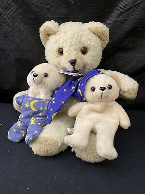 "Vtg Lot 1985 10"" Lever Brothers Lot Co Snuggle Bear Stuffed Plush & 2001 5"" X1"