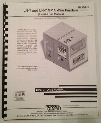Lincoln LN-7 GMA Wire Welder Feeder Manual