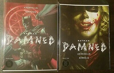 Batman Damned #1 First Print Uncensored  Jim Lee Cover & Issue 2 Combo
