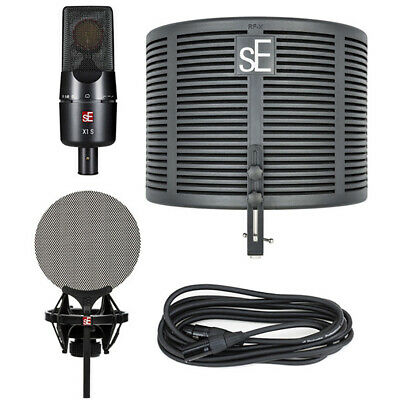 SE Electronics X1 S Studio Bundle | Mic, Reflection Filter, Pop Filter, Cable