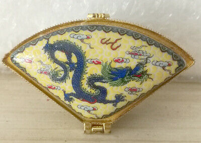 Jingdezhen Jewelry box painted ancient Chinese flying dragon free shipping - one
