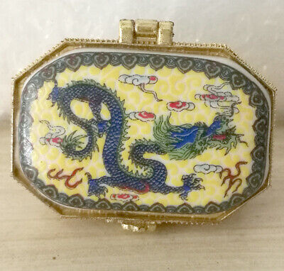 Jingdezhen Jewelry box painted ancient Chinese flying dragon price for one piece