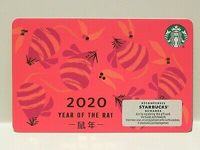 2020 Canada Chinese New Year Year of the Rat Starbucks Card NEW 6176
