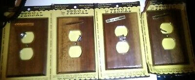 Vintage Fernal Solid Walnut Outlet Wall Plate Cover - Made in USA - NEW -