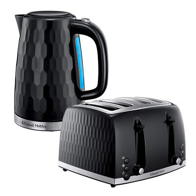Kettle Toaster 4 Slice Black Honeycomb Russell Hobbs Sale Kitchen Cheap Buy