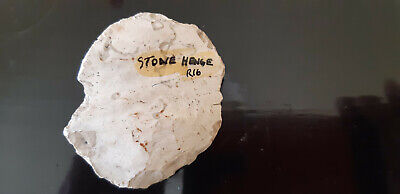 neolithic flint scraper tool from Stonehenge. Large example.