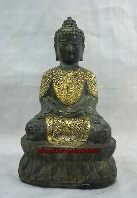 Chinese Ancient Antique Style Preeminent Copper Buddha Statue