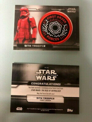 Topps STAR WARS THE RISE OF SKYWALKER  PATCH CARD > PC-FO SITH TROOPER
