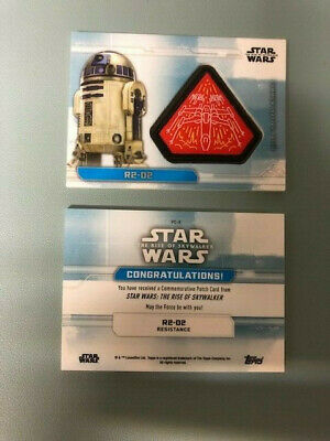 Topps STAR WARS THE RISE OF SKYWALKER  PATCH CARD > PC-X R2-D2
