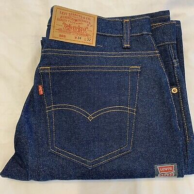 Vintage NWT Levis 505 0217 Red Tag Actual 34x33 Tag 34x32 Jean Made In USA