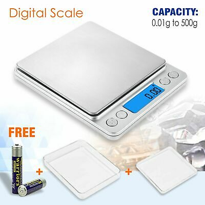0.01g - 500g Kitchen Food Scale Digital LCD Electronic Weight Jewellery Scales