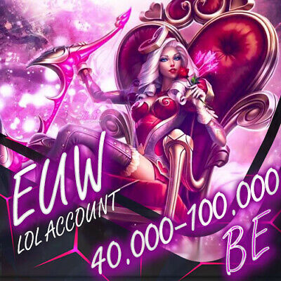 League Of Legends Account EUW LOL 30.000 - 70.000 BE IP Unranked Level 30 SMURF