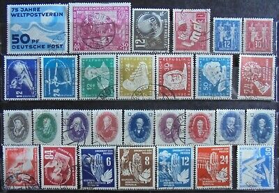 GERMANY (East) DDR 1949-50 Excellent Collection of 29 Used