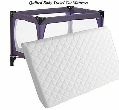New Extra Thick Baby Travel Cot Mattress Fully Breathable With Quilted Cover