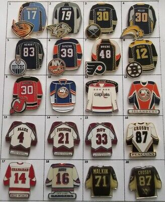 Different Teams Nhl Hockey Jersey Logo Pin (Your Choice) # G810