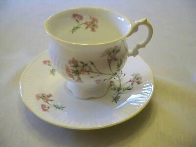 Staffordshire Fine Bone China Hand Decorated Tea Cup and Saucer Set Elizabethan